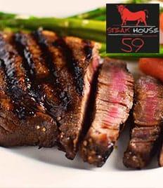 Ужин для двоих в ресторане «Стейк Хаус 59» со скидкой 50%!