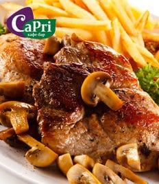 Городское кафе «Capri» со скидкой 50%! Домашняя кухня, большие порции, уютная атмосфера - это всё Вас ждет в «Capri»!