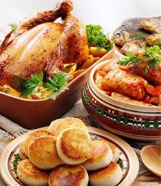 Русская кухня в кафе