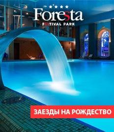 Загородный клуб Foresta Festival Park приглашает всех отдохнуть и развлечься в Новый Год со скидкой до 40%! Ждем Вас к нам!