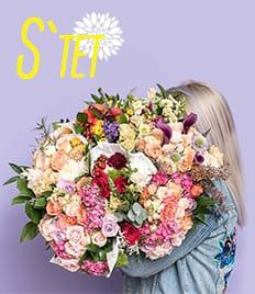 Оригинальные и неповторимые композиции из живых цветов со скидкой до 50% в салоне «S`tet»!