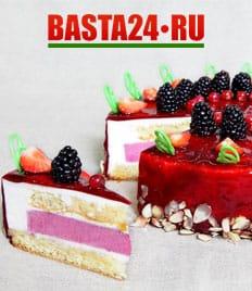 Торты и десерты к любому торжеству от Баста 24 со скидкой 50%!