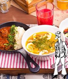 Приготовление обедов по выгодной цене от кафе «Немодный Гусь»!