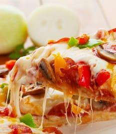 Любимая пицца «Primavera» со скидкой 50%. Продолжаем лакомиться!