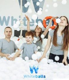 Соскучились? А мы Вас ждём! Сухой бассейн для всей семьи Whiteballs со скидкой 50%. Положительные эмоции и яркие фотографии!