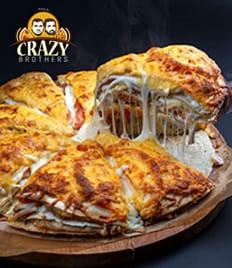 Легендарная четырёхэтажная пицца со скидкой 15% от «Crazy Brothers»!