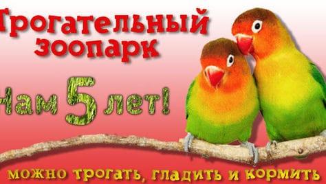 В честь Дня Рождения «Трогательного Зоопарка» мы дарим Вам скидку 50% на билет! У нас можно гладить животных!