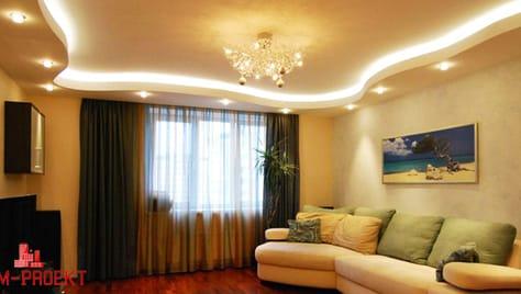 Второй потолок со скидкой до 100% или освещение в ПОДАРОК от компании «Rem-Proekt».