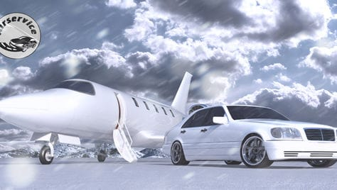 Едем в Новый Год! Поездки без предоплаты на автомобилях бизнес - класса от компании «Air-сервис» со скидкой до 26%!