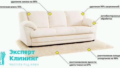 Химчистка мебели, генеральная и послестроительная уборка со скидкой до -42% в