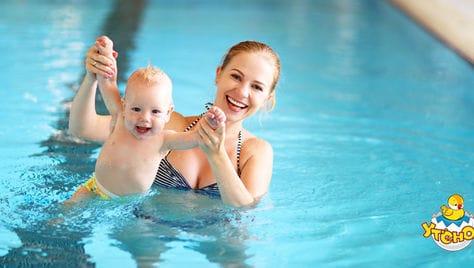 Только к Новому году для Ваших детей «Утенок» дарит скидку до 100% на обучение плаванию!