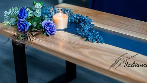 Столы из твердых пород древесины и полимерной смолы от компании «Radiance» со скидкой до 40%!